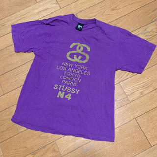 ステューシー(STUSSY)のstussy Tシャツ パープル Sサイズ(Tシャツ/カットソー(半袖/袖なし))