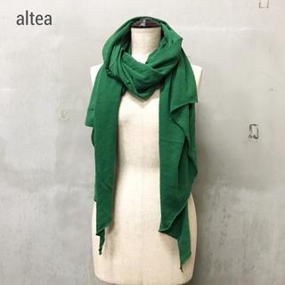 アルテア(ALTEA)の【altea】ウール ストール グリーン アルテア(ストール/パシュミナ)