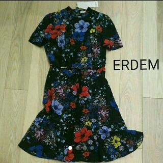 アーデム(Erdem)の【新品】ERDEM ワンピース 花柄(細目の9号)(ひざ丈ワンピース)
