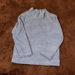 ジーユー(GU)のGU 120cm 起毛 長袖シャツ ハイネック フリース(Tシャツ/カットソー)