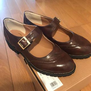 ハコ(haco!)のウィングチップシューズ 23センチ(ローファー/革靴)