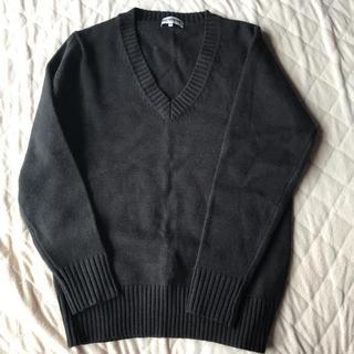シマムラ(しまむら)のキング様専用  シンプル 黒 Vネックセーター(その他)