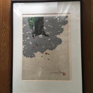 井堂 雅夫 木版画 (額入り)(版画)