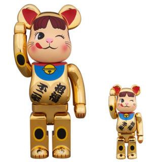 ✨ BE@RBRICK 招き猫 ペコちゃん 金メッキ 弐 100% 400%