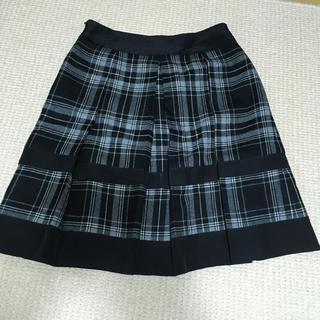 トゥモローランド(TOMORROWLAND)のウール素材 チェック プリーツ スカート(ひざ丈スカート)