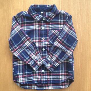 ムジルシリョウヒン(MUJI (無印良品))の無印良品 フランネル チェックシャツ 100(ブラウス)