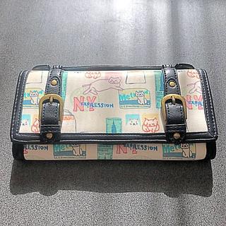 エーエスマンハッタナーズ(A.S.Manhattaner's)の猫柄 長財布 マンハッタナーズ(財布)