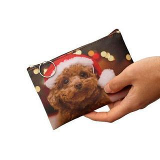 プードル サンタプードル♪ コインケース・小銭入れ 新品未使用品 送料無料♪(犬)