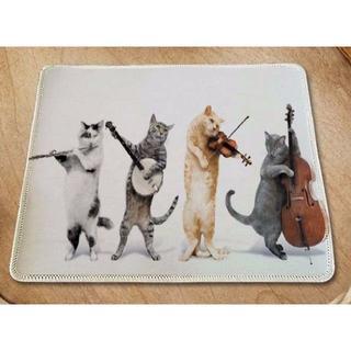 猫 猫ちゃんのマウスパッド♪ 楽器ねこちゃん A♪ 新品未使用品 送料無料(猫)