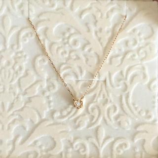 ジュピターゴールドレーベル(jupiter GOLD LABEL)の新品!JUPITER ダイヤモンドネックレス k18  キラキラ(ネックレス)