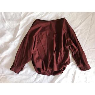 ユナイテッドアローズ(UNITED ARROWS)のブラウンのノーカラーシャツ(シャツ/ブラウス(長袖/七分))