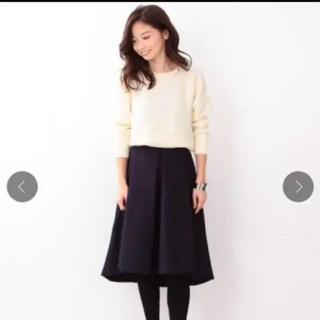 デミルクスビームス(Demi-Luxe BEAMS)のデミルクスビームス 紺 36(ひざ丈スカート)