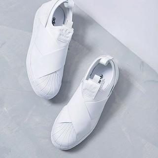 アディダス(adidas)の★アディダス スリッポン ★ホワイト24㎝(スリッポン/モカシン)