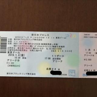 【アリーナB 1枚】新日本プロレス 1.4 東京ドーム wk13(格闘技/プロレス)