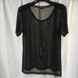 エルエヌエー(LnA)のブラック スケTシャツ(Tシャツ(半袖/袖なし))
