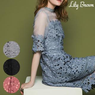 リリーブラウン(Lily Brown)のレース切替ドレス(その他ドレス)