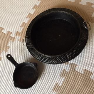 鉄分補給に、鉄鍋 と 鉄製ミニフライパン(鍋/フライパン)