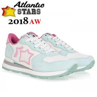 06 Atlantic STARS 18AW VEGAミントグリーン×ピンク38(スニーカー)