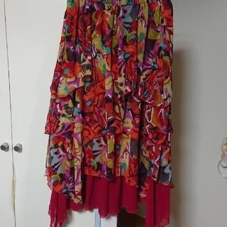 エルロデオ(EL RODEO)のフリフリ 段々スカート(ロングスカート)