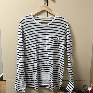 ジーユー(GU)のボーダーシャツ メンズ (Tシャツ/カットソー(七分/長袖))