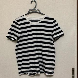 MUJI (無印良品) - 細ボーダーティシャツ