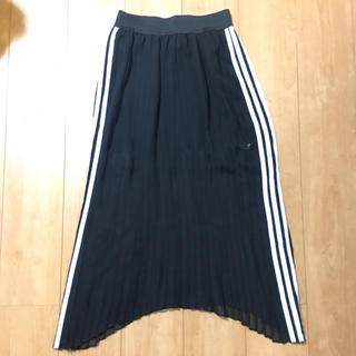 アディダス(adidas)のアディダスオリジナル プリーツスカート(ロングスカート)