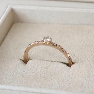 サマンサティアラ(Samantha Tiara)のサマンサティアラ  k18 ハーフエタニティ リング ダイヤ(リング(指輪))