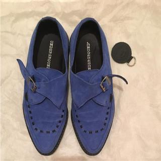 アンダーグラウンド(UNDERGROUND)の美品 underground ブルー シューズ(ローファー/革靴)