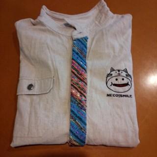 アップスタート(UPSTART)の麻紺長袖シャツ(シャツ)