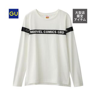 ジーユー(GU)のMARVEL トップス(Tシャツ(長袖/七分))