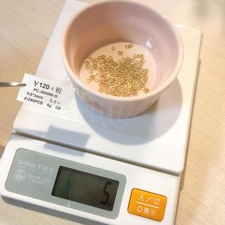 キワセイサクジョ(貴和製作所)の丸カン ゴールド 0.6×3mm(各種パーツ)
