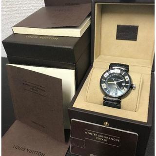 ルイヴィトン 腕時計 タンブール インブラック GMT Q113K(レザーベルト)