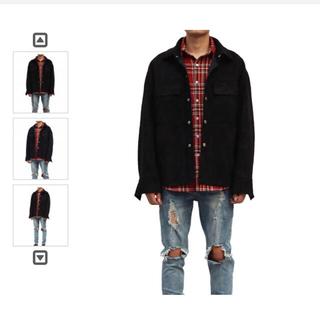 フィアオブゴッド(FEAR OF GOD)のUrkool wear suede coat Black M(ブルゾン)