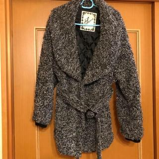アベイル(Avail)の美品!ビッグヒョール衿ベルト付きボアコート(毛皮/ファーコート)