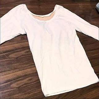 ムジルシリョウヒン(MUJI (無印良品))の無印良品★シルク入りカップ入り八分袖Tシャツ(アンダーシャツ/防寒インナー)