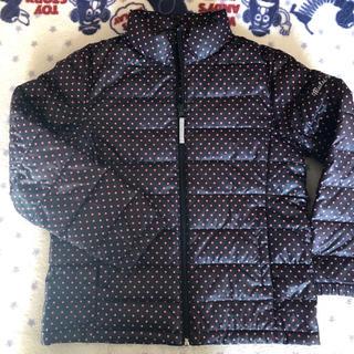 シマムラ(しまむら)の130140中綿良質☆美品ダウンジャケット黒ピンクドット(ジャケット/上着)