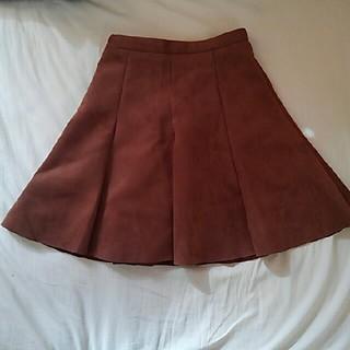 アンティックラグ(antic rag)のブラウンスカート(ミニスカート)