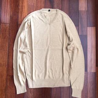ムジルシリョウヒン(MUJI (無印良品))のMUJI リブニット コットン&シルク セーター メンズ Lサイズ (ニット/セーター)