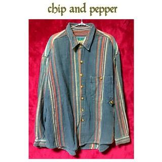 チップアンドペッパー(CHIP AND PEPPER)のvintage chip and pepper オーバーサイズ シャツ メンズ(シャツ)
