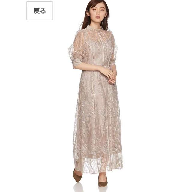 FRAY I.D(フレイアイディー)のチュールエンブロイダリーロングドレス レディースのスカート(ロングスカート)の商品写真