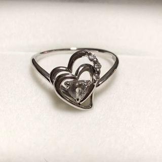 サマンサティアラ(Samantha Tiara)のサマンサティアラ ★K18WG・ハートのリング・ホワイトトパーズ、ダイヤ(リング(指輪))