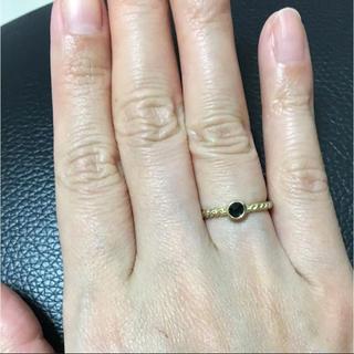♡ジュエッテ オニキスデザインリング 6号♡(リング(指輪))