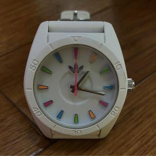アディダス(adidas)のジャンク品☆アディダス☆シリコン腕時計☆ホワイト☆白☆シリコンベルト(腕時計)
