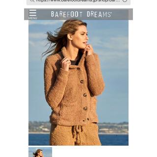 ベアフットドリームス(BAREFOOT DREAMS)のベアフットドリーム 襟付きカーディガン タグ付き新品(カーディガン)