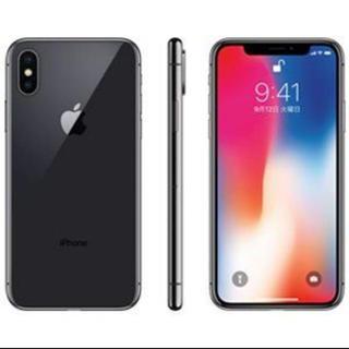 アイフォーン(iPhone)のau iPhoneX 本体 256GB(美品)スペースグレイ MQC12J/A(スマートフォン本体)
