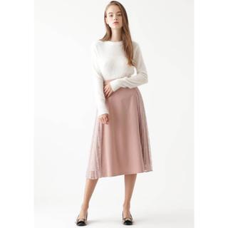 ジルスチュアート(JILLSTUART)のジルスチュアート今期新作ユリアレースプリーツスカート新品サイズ2ピンク(ロングスカート)