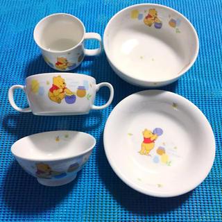 ディズニー(Disney)のディズニー  プーさん  食器  5点セット お子様用(プレート/茶碗)