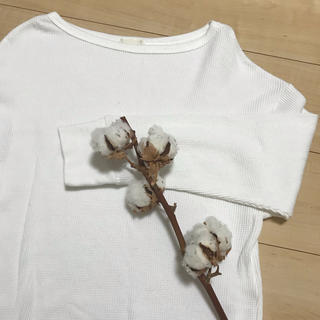ジーユー(GU)のGU ☆ ワッフルT(Tシャツ(長袖/七分))