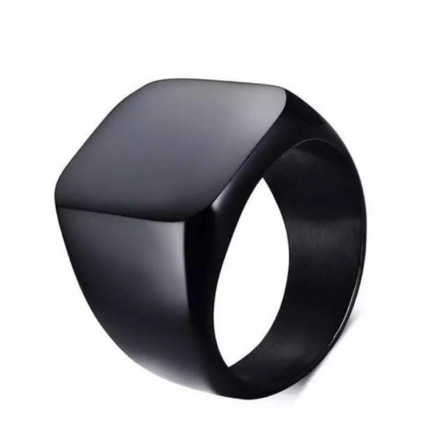 アウトレット!メンズ ミニマリング☆ ブラック指輪 メンズのアクセサリー(リング(指輪))の商品写真