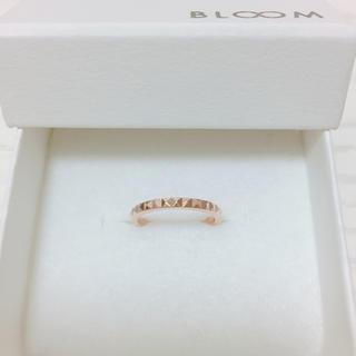 ブルーム(BLOOM)のBLOOM ピンクゴールド ダイヤカットリング(リング(指輪))
